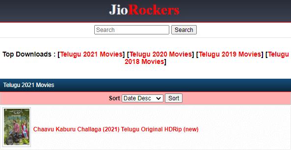 Jio Rockers Telugu Movies 2021