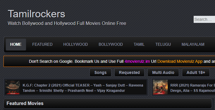 Tamilrockers Telugu Movies 2021